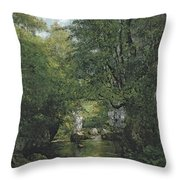 The Water Stream, La Breme Throw Pillow