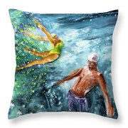 The Water Wall Throw Pillow