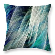 The Waterfall Abstract Throw Pillow