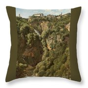 The Waterfalls At Tivoli Throw Pillow