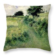 The Watering Place Throw Pillow