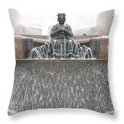 The Waterman Fountain Throw Pillow