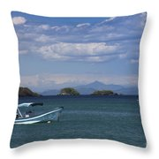 The Waters Of Coiba Throw Pillow