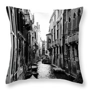The Waterways Of Venice Throw Pillow