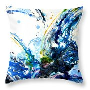 The Wave 2 Throw Pillow