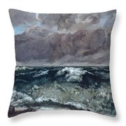 The Wave 1867  Throw Pillow