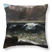 The Wave 1869 1 Throw Pillow