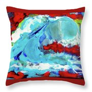 The Wave #2 Throw Pillow