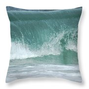 The Wave De Throw Pillow