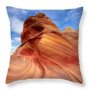 The Wave Eight Throw Pillow