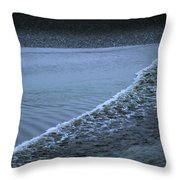The Wave Of A Bore Tide Traveling Throw Pillow