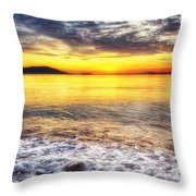 The Waves That Calm Me Throw Pillow