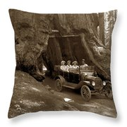 The Wawona Tree Mariposa Grove, Yosemite  Circa 1916 Throw Pillow