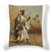 The Way From Sinai To Cairo Throw Pillow