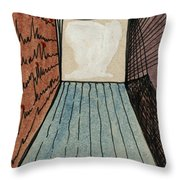 The Way Into This Room.  Surreal Box. Aceo Throw Pillow