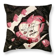 The Way It All Broke Apart Throw Pillow