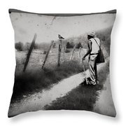 The Way Of The Crow Throw Pillow