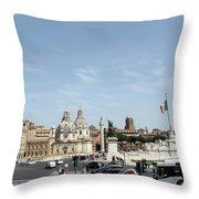 The Way To Piazza Venezia Throw Pillow