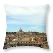 The Way To St. Peter's Basilica Throw Pillow