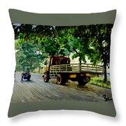 The Way To Tanjung Uma Throw Pillow