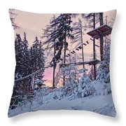 The Way To The Sky V2 Throw Pillow