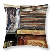 The Weathered Paramount Ranch Throw Pillow