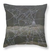 The Web Throw Pillow