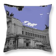 The Wedding Cake In Rome Throw Pillow