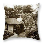 The Wedding Chapel Carmel  Highlands Inn Circa 1968 Throw Pillow