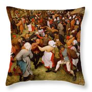 The Wedding Dance Throw Pillow
