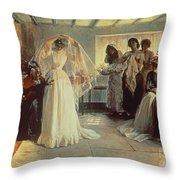 The Wedding Morning Throw Pillow