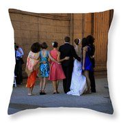 The Wedding Party Detail Throw Pillow
