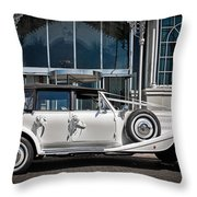 The Weddingmobile Throw Pillow