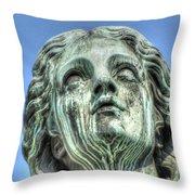 The Weeping Sculpture Throw Pillow