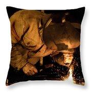 The Welder Throw Pillow