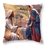 The Well Of Sychar Throw Pillow
