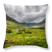 The Welsh Valley Throw Pillow