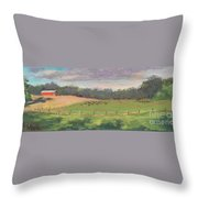 The West Cow Pasture Early Morning Throw Pillow