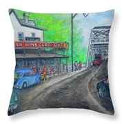 The West End Carryout At The Bridge Throw Pillow