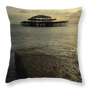 The West Pier Throw Pillow