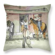 The West. Wild And Women Throw Pillow