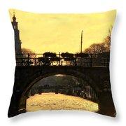The Westertoren Amsterdam Throw Pillow