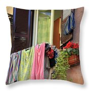 The Wet Clothes Throw Pillow