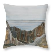 The Whale Watchers At Elephant Rock Throw Pillow