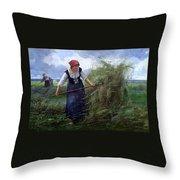 The Wheatfield Throw Pillow