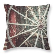 The Wheel And The Ivy Throw Pillow