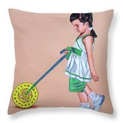 The Wheel - La Rueda Throw Pillow