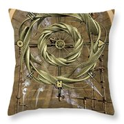 The Wheel Of Fortune Throw Pillow by John Edwards