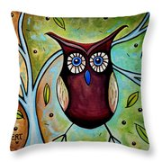 The Whimsical Owl Throw Pillow