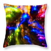 The Whirl Of Christmas Commerce Throw Pillow
